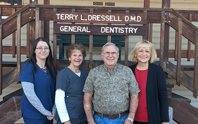 Dr. Dressell Dental Team smiling